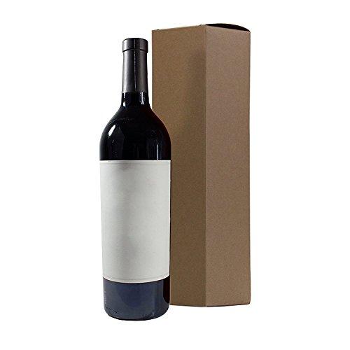 "Wine and Liquor Natural Kraft Gift Box - 6 pack - 13.5"" tall"