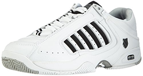 K-Swiss Defier RS Men's Tennis Shoes, Black/White, US14 (K Swiss Defier Rs Mens Tennis Shoes)