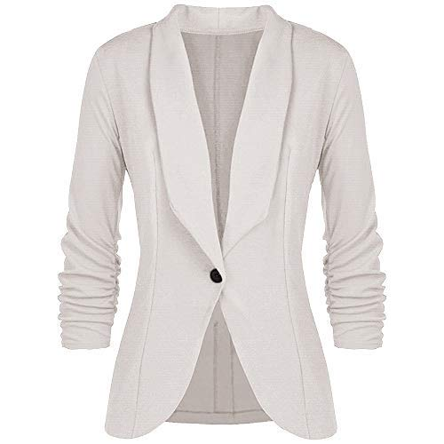 Deloito Womens Ladies Autumn Winter Casual Slim Jacket Coats Parka Cardigan Overcoat Outwear OL Button Office Blazer…