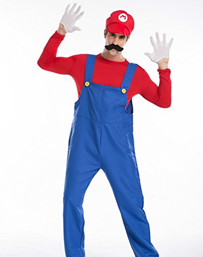 Love Super Mario Deluxe Brothers Mario Cosplay Costume