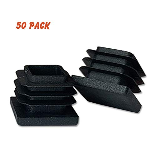 Plastic Push Cap - (50 Pack) OASIS 3/4 Inch Square Plastic Plug, Plastic End Caps for Square Tubing 3/4