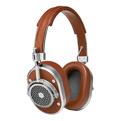 Headphones Silver Headphones (Master & Dynamic MH40 Premium Over-Ear Headphones, Award-Winning Closed-Back Wired Headphones with Superior Sound Quality, Silver Metal/Brown Leather)