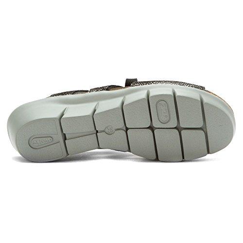 Sneakers Wolky Comfort In Pelle Caviale Nero Ontario