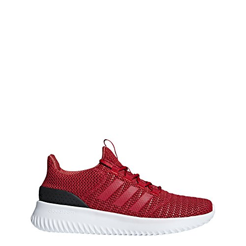adidas Men's Cloudfoam Ultimate Running Shoe Scarlet/Black, 8.5 M US