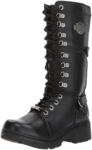Harley-Davidson Women's Harland Work Boot, Black, 8 M US by Harley-Davidson