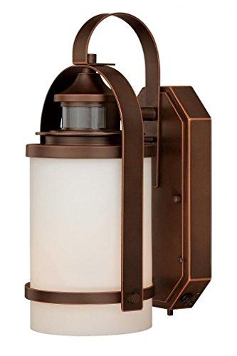 Vaxcel T0069 Weston 6-1/2-InchOutdoor Smart Lighting Wall Light, Burnished Bronze