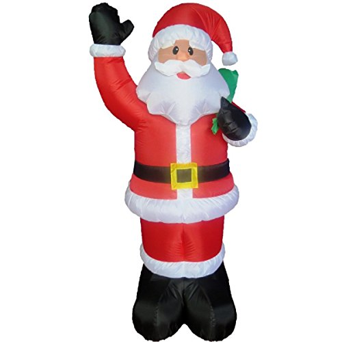 Life Ideas 5' Inflatable Santa With Bag ()