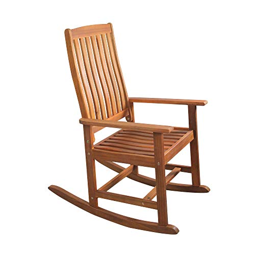 Northlight 43″ Brown Acacia Wood Outdoor Patio Rocking Chair