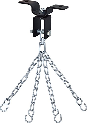 RDX Heavy Duty Boxing Punch Bag Iron Hook 4 Panel Chains Wall Mount Punching MMA Training Hanger -