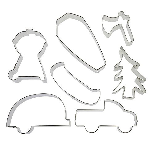 Welcome To Our Campsite Cookie Cutter 7 Pc Set - Foose Cookie Cutters - US Tin Plated Steel HS0421 (Best Camping Sites In Missouri)