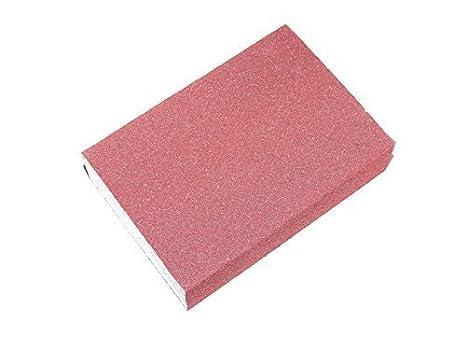 É ponge abrasive 95 x 65 x 25, corindon, grain 60 - 280, pour le bois, blanc laqué , plastique - Korn 280 blanc laqué Eberflex