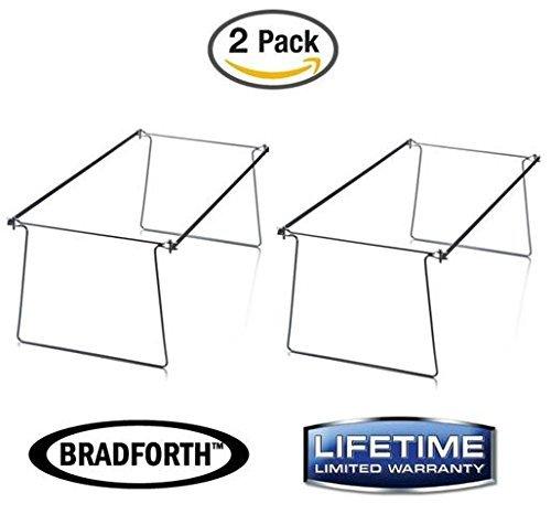 Bradforth Hanging File Frame, Legal Size, File Folder Drawer Frames, 2 Pack - Adjustable Hanging Folder Frame Drawer