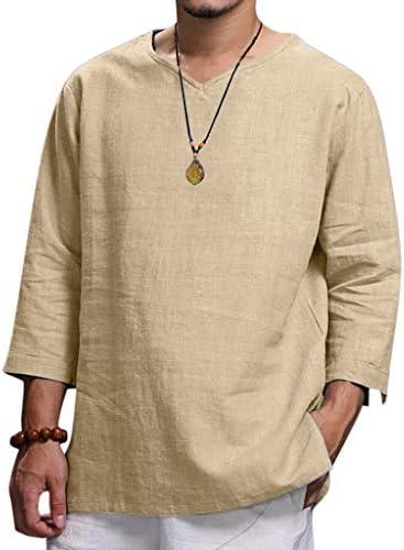 tシャツ メンズ 七分袖 vネック シャツ 無地 レトロ ポロシャツ カジュアル 柔らかい ゆったり プルオーバー 薄手 通気性 春夏 オシャレ 人気 トップス 大きいサイズ ビジネス ティーシャツ 通勤 おしゃれ トレーナー
