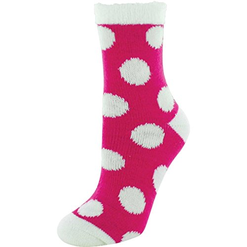 (Yaktrax Youth Cozy Cabin Crew Socks,White dots,Ones size)