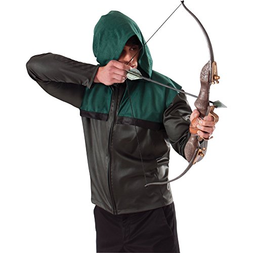 Green Arrow's Bow And Arrow Set Oliver Queen DC Comics TV Costume Katniss Movie ()