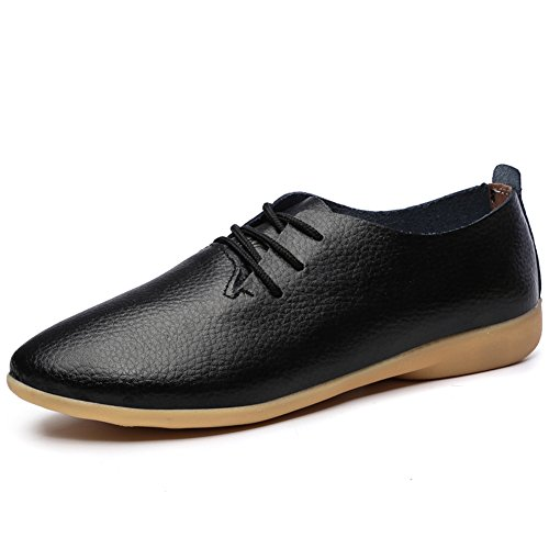 Ifrich Women's Leather Casual Comfort Oxford Shoes