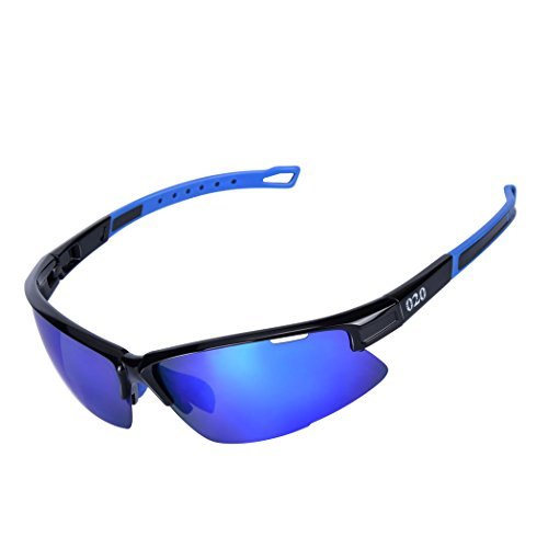 O2O [Polarized] Sports Sunglasses [Tr90] Frame [One of the Lightest Sports Sunglasses] Only 0.044 Lb for Running Golf Driving Baseball Cycling Fishing Men Women Teens - Germany Sunglasses