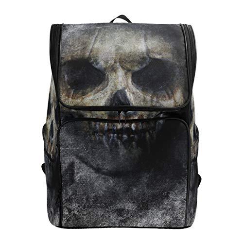 YCHY Backpack Scary Horror Skull Halloween Grunge Wallpaper Lightweight Travel Bag Hiking Knapsack College Student School Bookbag Travel Daypack for men women