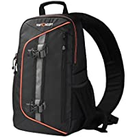 K&F Concept Sling Camera Backpack for Canon Nikon Sony DSLR Bag with Rain Cover