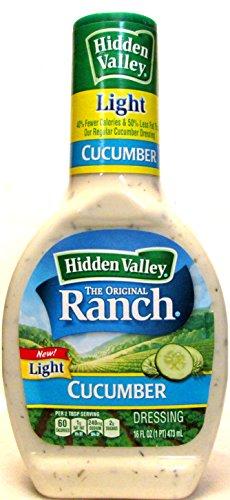 Hidden Valley Light Ranch Cucumber Dressing (Pack of 2) 16 Ounce - Calories Hidden Valley Dressing Ranch