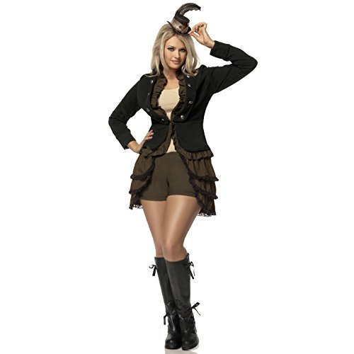 Mystery House Costumes Plus-Size Steampunk Lady Deluxe, Brown/Black/Ivory, 2X