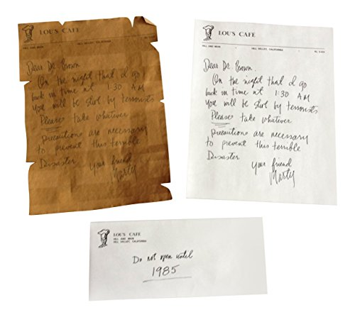 Back To The Future Marty's Letter To Doc Replica Prop - Movie Memorabilia Props