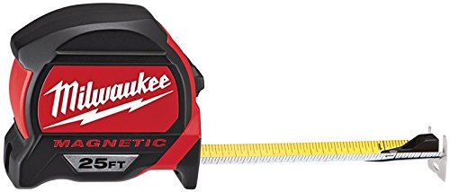 Milwaukee Tool 48-22-7125 Magnetic Tape Measure 25 ft x 1.83 Inch (Tape Measure Magnetic)