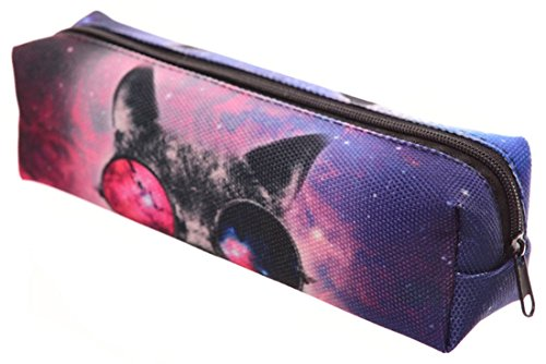 Kukubird Varia Impresión Lápiz Caja Con Bolsa De Polvo De Kukubird Galaxy Sunglasses Cat