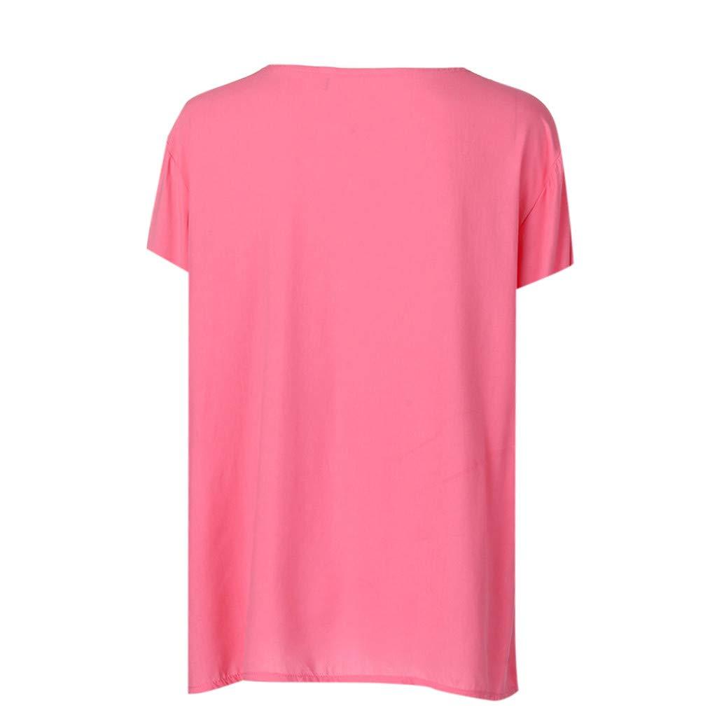 MRULIC Damen Button-down T-Shirt Kurzarm F/ünf Blitzige Stern Bluse Hemd Oversize Tops Sweatshirt Sportshirt Oberteile
