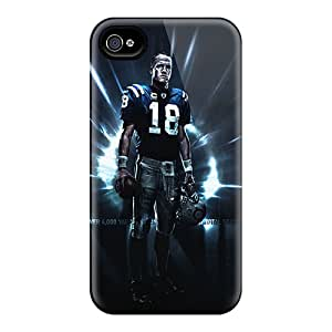 Rugged Skin Cases Covers For Iphone 4/4s- Eco-friendly Packaging(indianapolis Colts)