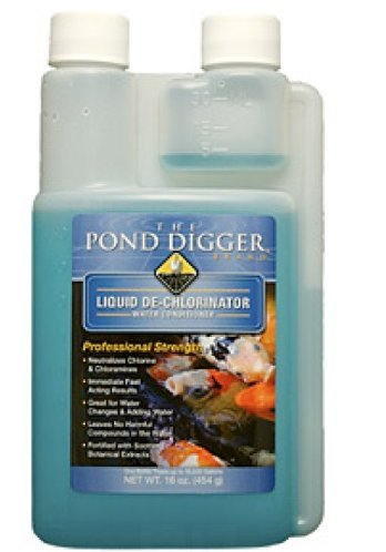 Dechlorinator Liquid - The Pond Digger Liquid De-chlorinator - 16oz