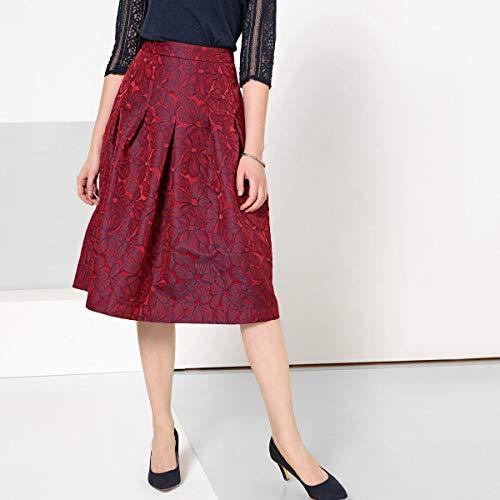 La Redoute Womens Jacquard Midi Skirt Blue Size US 14 ()