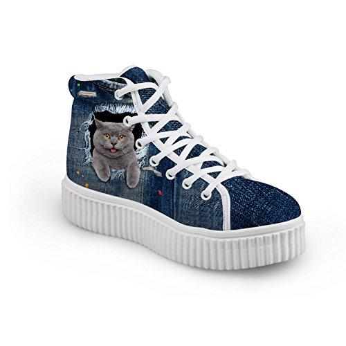 Sneakers Cute Shoes12 Jeans Top Women IDEA Shoes HUGS High v5q7IU