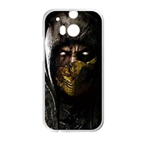 Mortal Kombat X 4 HTC One M8 Cell Phone Case White Cell Phone Case Cover EEECBCAAK02950