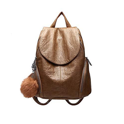 VHVCX Decoración De Bolas De Pelo De Las Mujeres Mochila De Viaje Bolsos De Las Señoras Schoolbags Para Las Niñas, Una: Amazon.es: Zapatos y complementos