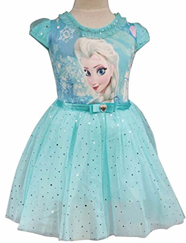 Janeyer Little Girls' Snowflakes Dress Princess Christmas Costume