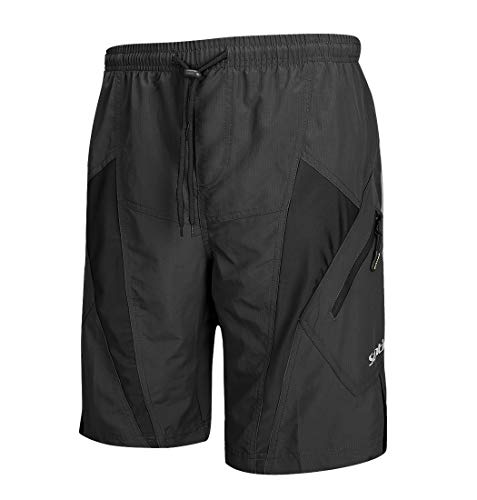 (Santic Men's Cycling Shorts Loose-Fit 4D Padded Bike Bicycle MTB Mountain Bike Shorts)