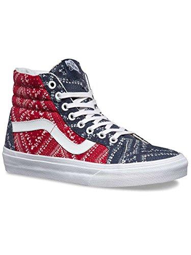 Vans Womens Ditsy Bandana SK8-Hi Reissue Chili Pepper/Parisian Night Sneaker – 7.5