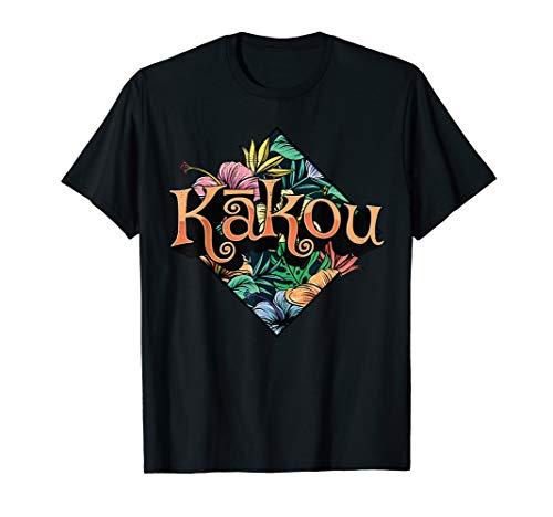 Aloha Hawaiian Values Language Graphic Themed Tropic T Shirt -