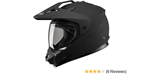 Amazon.com: Gmax GM11D Dual Sport Full Face Helmet (Flat Black, Large): Automotive