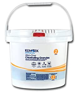 Kem tek 013 pool and spa all in one concentrated chlorinating granules 22 1 2 for Does lowes sell swimming pool supplies