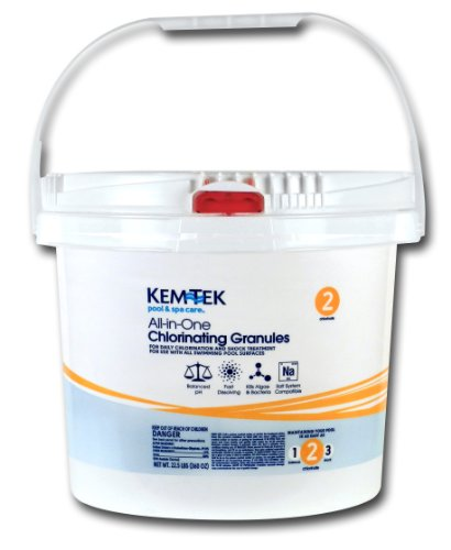 (Kem-Tek 013 Pool and Spa All-in-One Concentrated Chlorinating Granules,)
