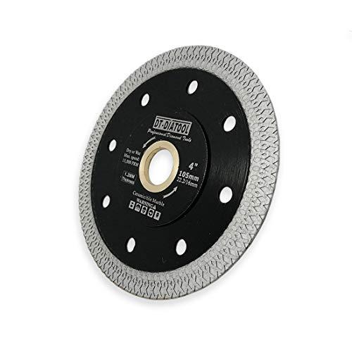 DT-DIATOOL Turbo Mesh Diamond Blade 4 inch with X Rim Segment Cutting Tile Porcelain