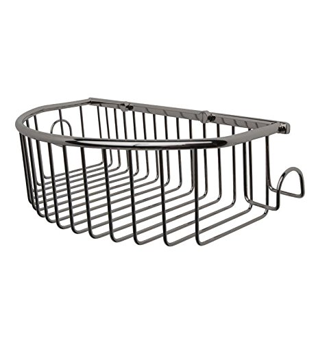 - Valsan Essentials Wall Mounted Curved Basket Finish: Satin Nickel