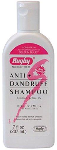 (Rugby Selenium Sulfide Anti-Dandruff Shampoo 7 oz (Pack of 2))