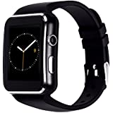ASOON Smart Watch, Touch Screen Bluetooth Smart Wrist Watch with SIM Card Slot for Samsung LG Galaxy Note Sony Nexus Android Phones (X6)