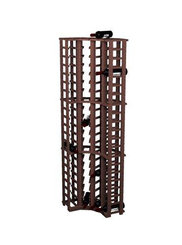 Wine Cellar Innovations Rustic Pine Curved Corner Wine Rack for 84 Wine Bottles, Dark Walnut ()