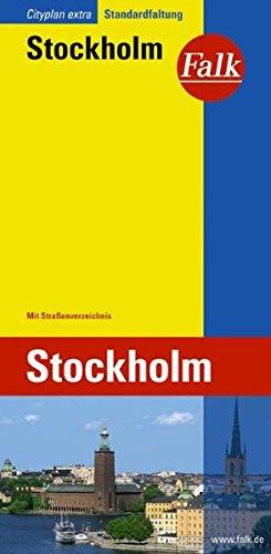 Falk Cityplan Extra Standardfaltung International Stockholm mit Straßenverzeichnis