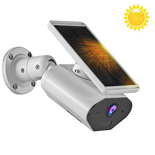 YTVISON Outdoor Wireless Solar Powered Security Rechargeable Camera, 2.4GHz WiFi Home Security Camera, with Night Vision/Motion Detection/Two-Way Audio/IP66 Waterproof, Support Android and iOS