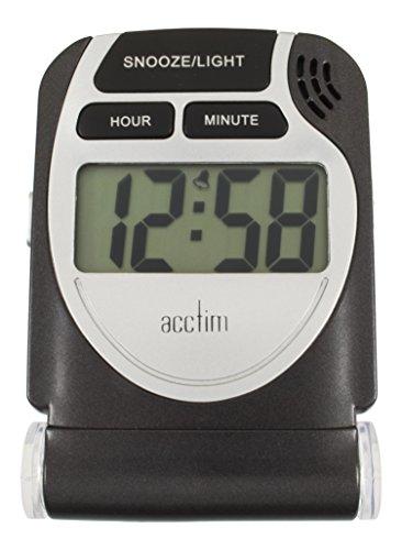 Acctim 13253 Smartlite Travel LCD Alarm, Black
